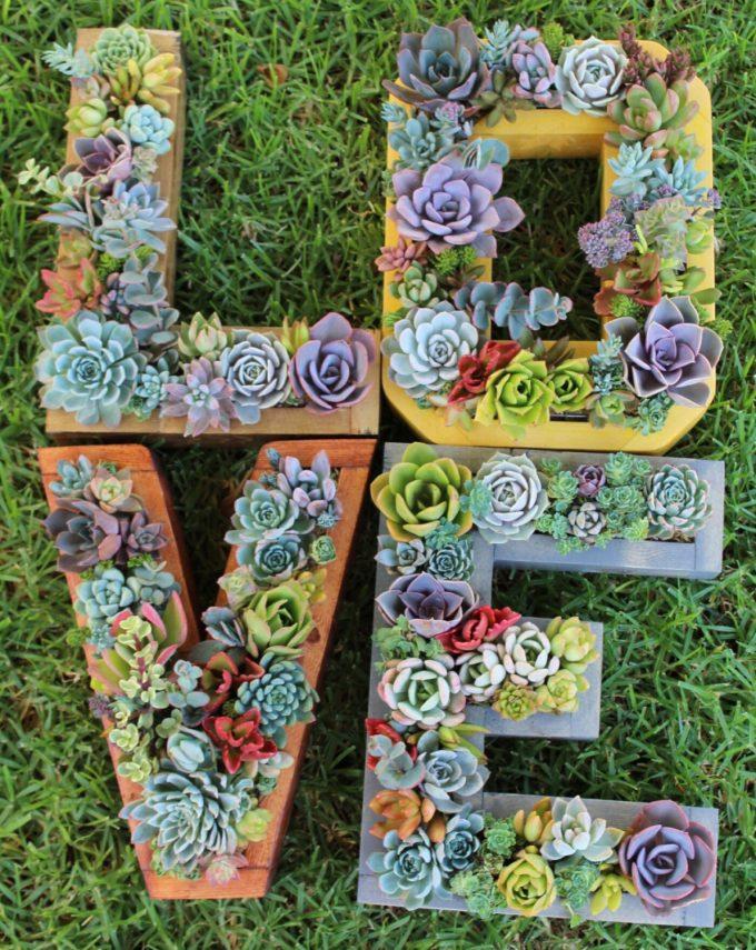 etsy vertical garden initials