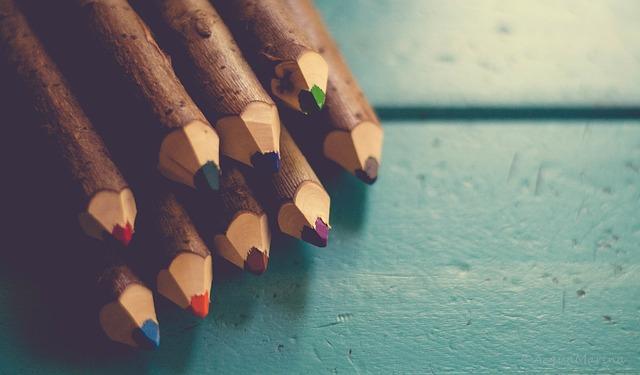 rainbow pencils