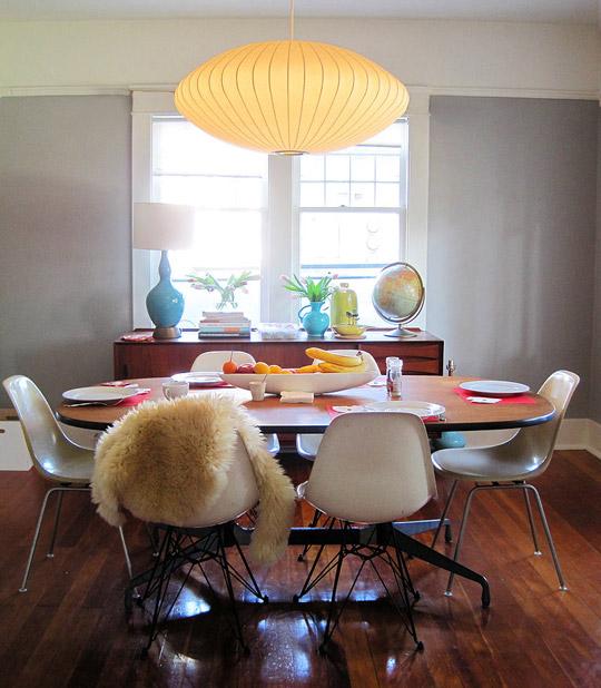 fur diningroom chairs