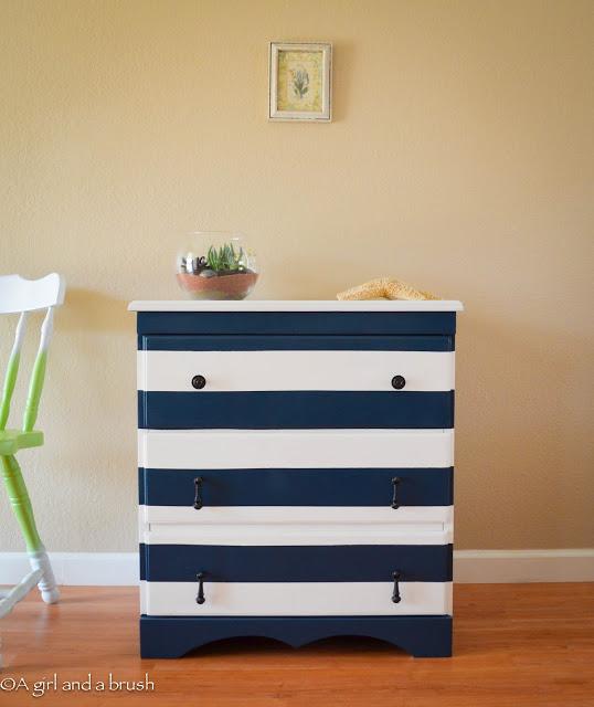 striped dresser