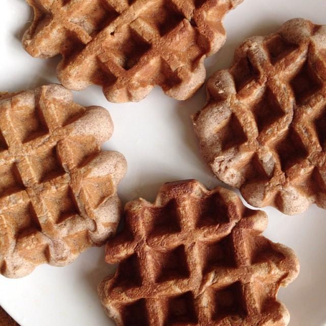 hazlenut waffles
