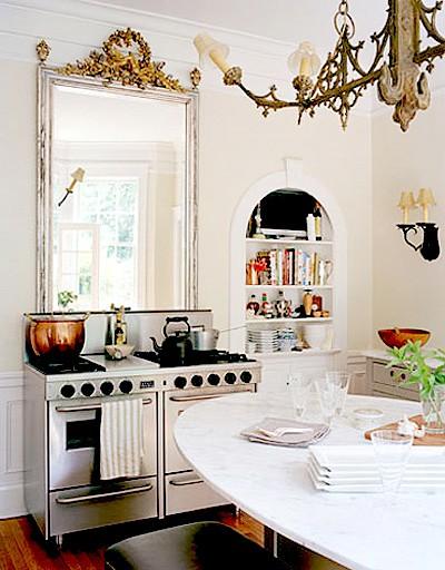 mirror over stove