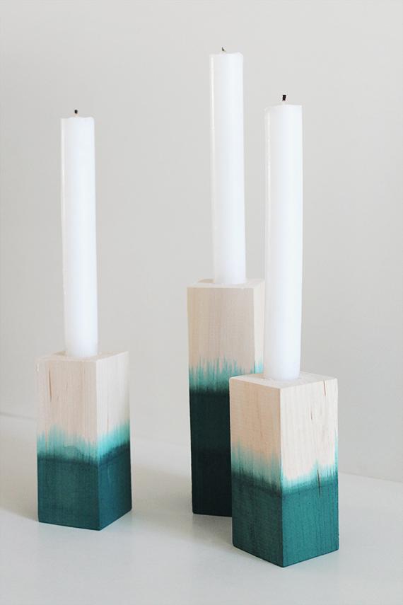 dip dye candlesticks