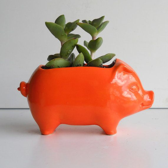 etsy  pig planter