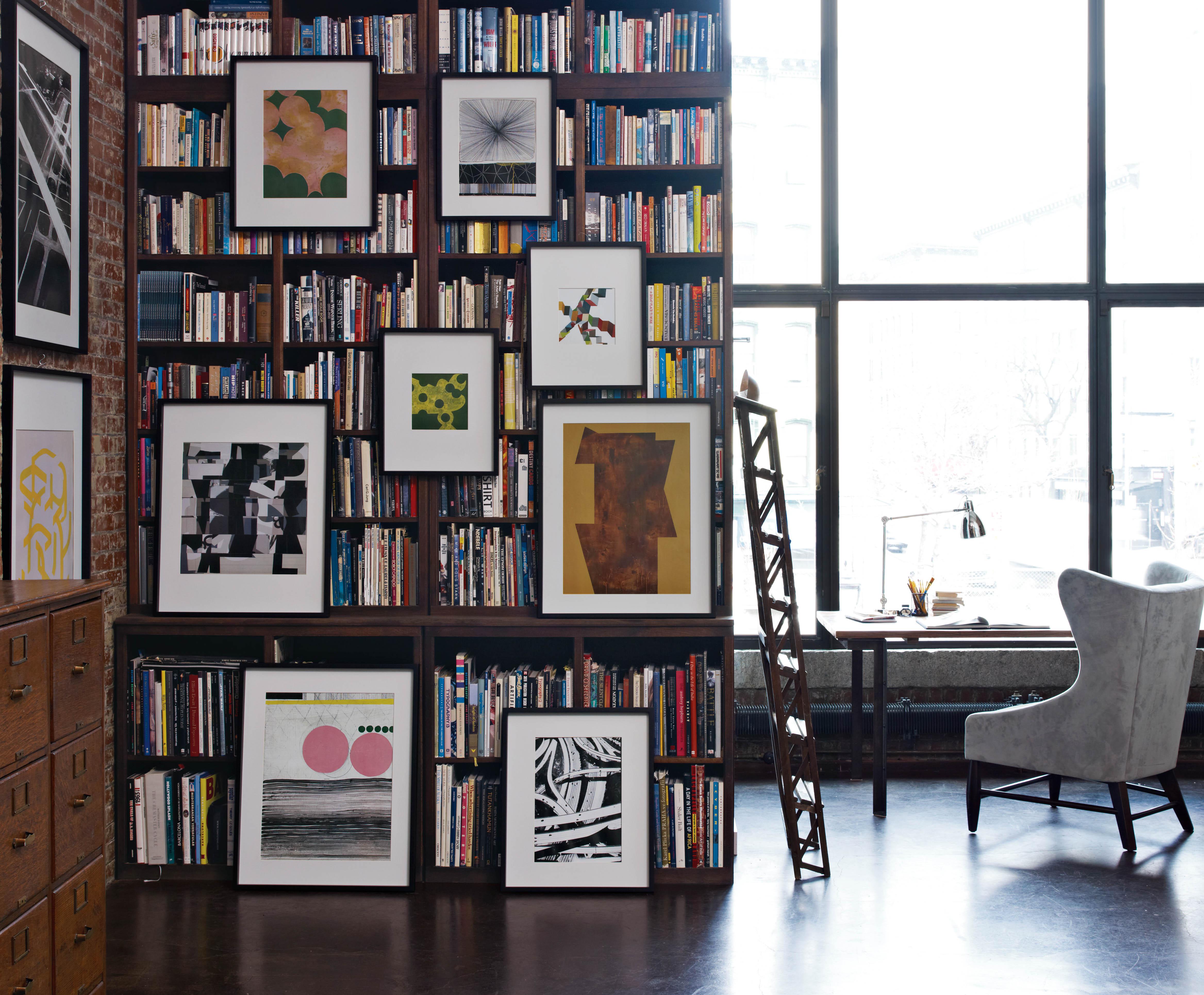 Furniture Stores Like West Elm #34: Hanging Art On Bookshelves
