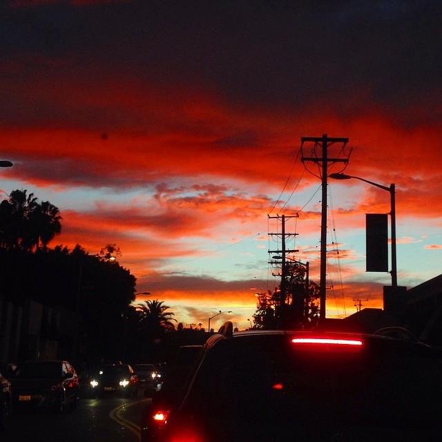 los angeles city sunset
