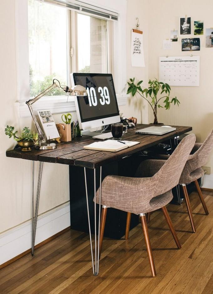 earth tone office