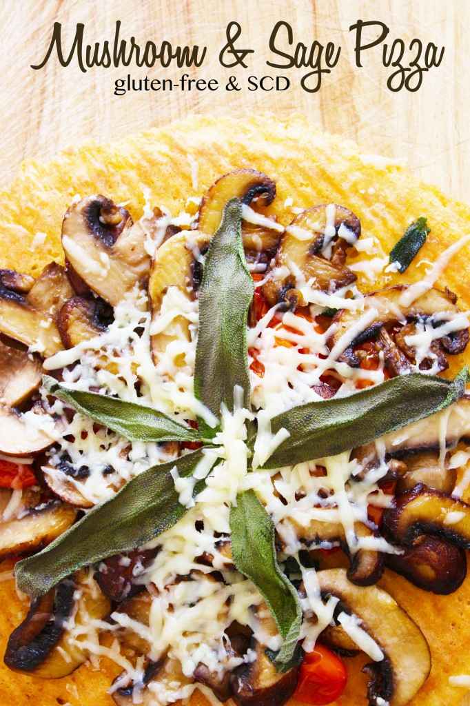 gluten-free mushroom pizza
