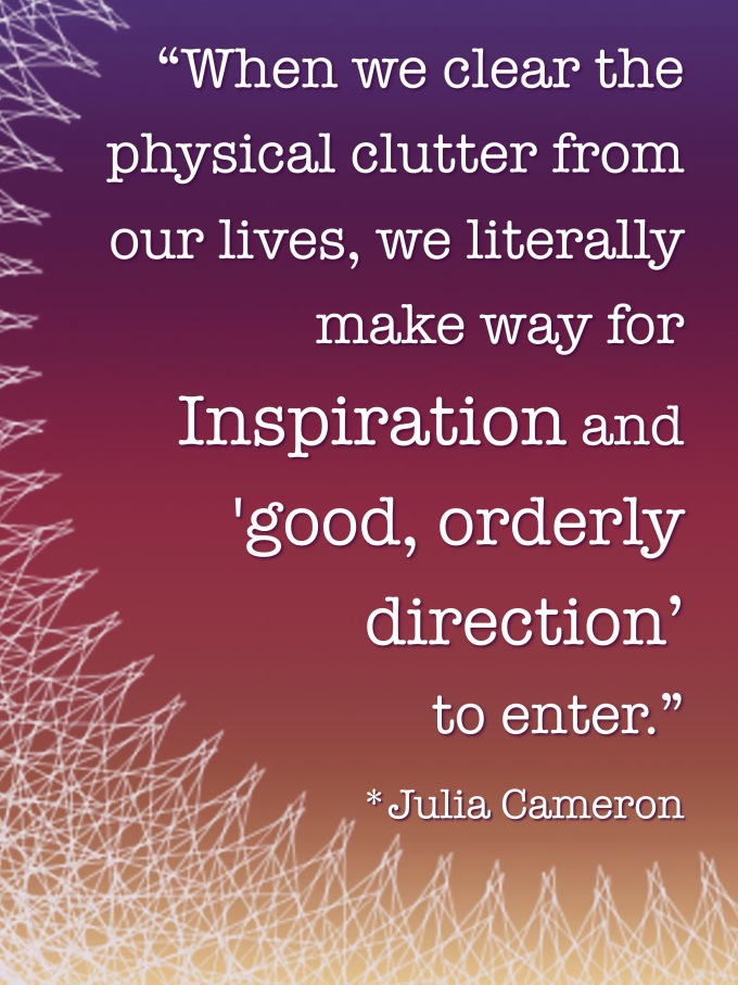 julia cameron clutter