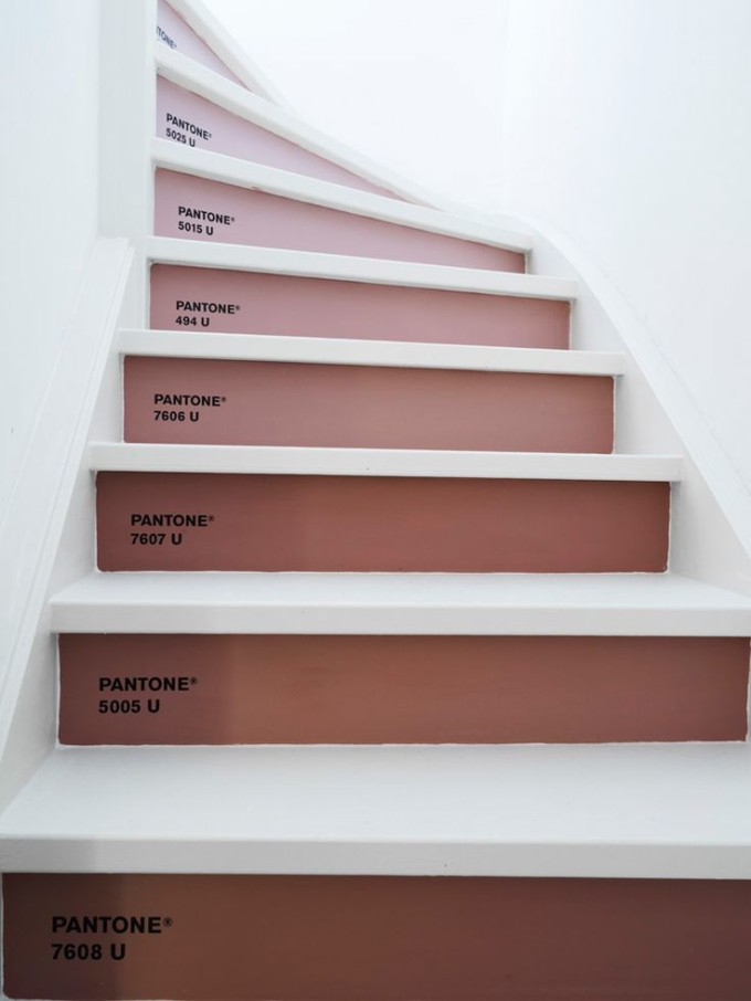 dusty rose steps