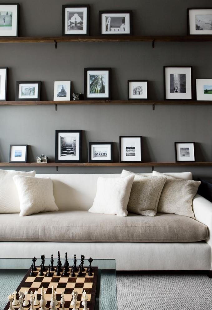 grey walls and cream