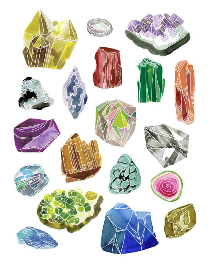 gemstone print