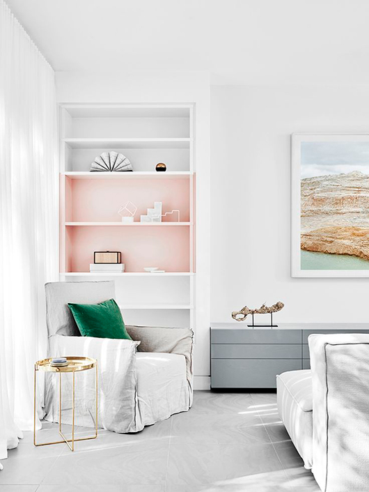 pastel bookshelf