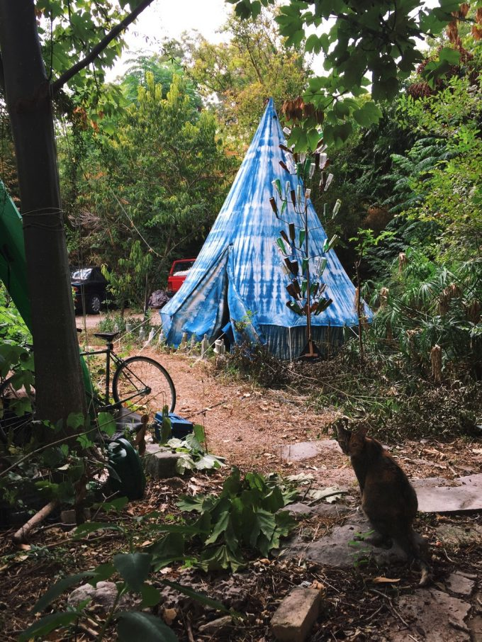 shibori tent