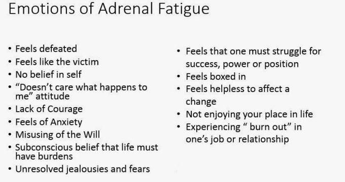 emotions of adrenal fatigue